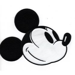 Patch Ecusson Thermocollant Tête de Mickey 16 x 20,50 cm