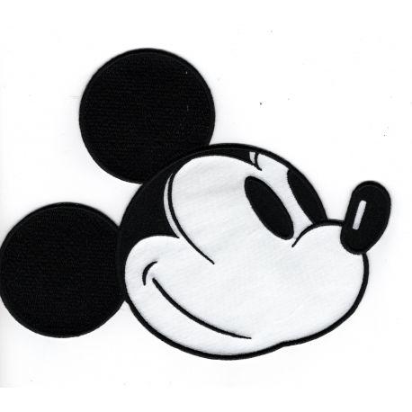 Patch Ecusson Thermocollant Tête de Mickey 16 x 20,50 cm