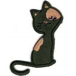Patch Ecusson Thermocollant Chat tout doux taches 4 x 10 cm