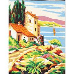 Kit Canevas complet La Toscane 14 x 18 cm