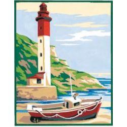 Kit Canevas Le phare B 14 x 18 cm Pénélope Blanc Petits Trous