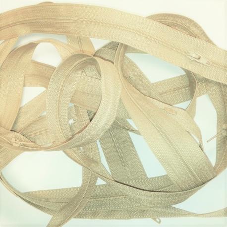 Chute Fermeture au mètre 3.50 mètres coloris Beige maille spirale