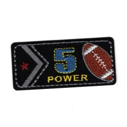 Patch Ecusson Thermocollant Power football américain 3 x 6 cm