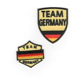 Patch Ecusson Thermocollant 2 x Blason Allemagne Germany 3,50 x 3,50 cm et 4 x 5 cm