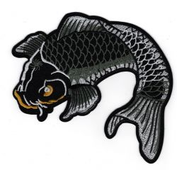 Patch Ecusson Thermocollant Poisson Carpe Coï XXL 12 x 18 cm