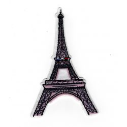 Patch Ecusson Thermocollant Tour Eiffel 5 x 9 cm