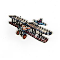 Patch Ecusson Thermocollant Avion vintage 4 x 6,50 cm