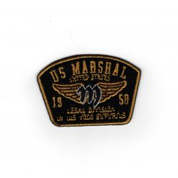 Patch Ecusson Thermocollant Blason US Marshal 4 x 5,50 cm