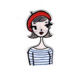 Patch Ecusson Thermocollant Petite Parisienne 3 x 6,50 cm