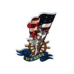Patch Ecusson Thermocollant Jeune fille pin up USA marine américaine 5 x 6,50 cm