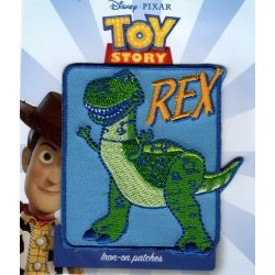 Patch Ecusson Thermocollant Rex le dinosaure Toy Story 6 x 6,50 cm