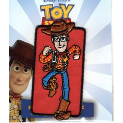 Patch Ecusson Thermocollant Woody le cow boy fond rouge Toy Story 4 x 8 cm