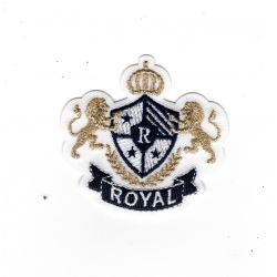 Patch Ecusson Thermocollant Blason royal Lions 5 x 5 cm
