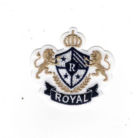 Patch Ecusson Thermocollant Blason royal Lions 5 x 5 cm