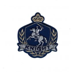 Patch Ecusson Thermocollant Blason royal chevalier knight 4,50 x 5,50 cm