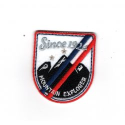 Patch Ecusson Thermocollant Blason ski mountain explorer 4,50 x 5 cm