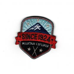 Patch Ecusson Thermocollant Blason mountain explorer since 1924 5 x 5 cm