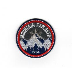 Patch Ecusson Thermocollant Blason flocon mountain explorer 5 x 5 cm