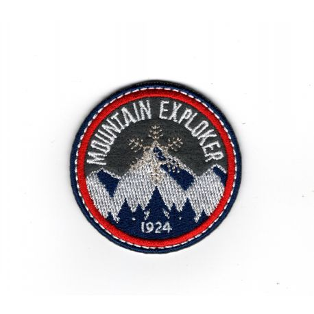 Patch Ecusson Thermocollant Blason flocon mountain explorer 5 x 5 cm