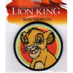 Patch Ecusson Thermocollant Simba Le Roi Lion 6,50 x 6,50 cm