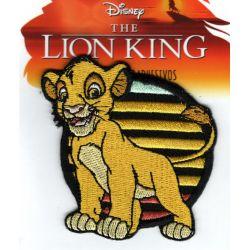 Patch Ecusson Thermocollant Simba Le Roi Lion 6,50 x 7 cm