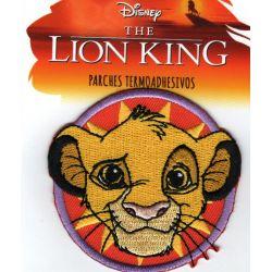 Patch Ecusson Thermocollant Simba Le Roi Lion 6 x 6,50 cm