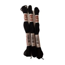 3 x échevette retors mat coloris noir à broder canevas tot bag