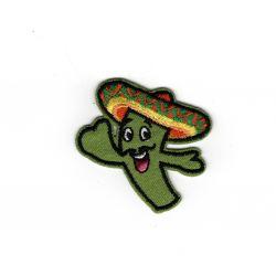 Patch Ecusson Thermocollant Cactus mexicain 4 x 4 cm