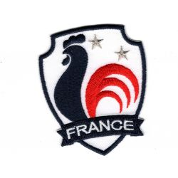 Patch Ecusson Thermocollant Blason coq France français 5,50 x 6,50 cm