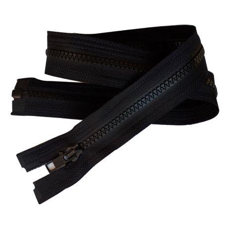Fermeture Eclair Coloris Noir 55 cm Séparable Ouvrable maille 5 mm largeur 3 cm blouson