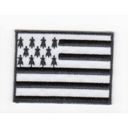 Patch Ecusson Thermocollant Drapeau breton Bretagne 3,50 x 5 cm