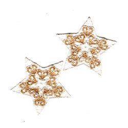Patch Ecusson Thermocollant 2 x Etoile brodée au Choix 4 x 4 cm