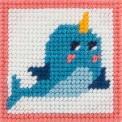 Kit Canevas complet le dauphin magique 15 x 15 Enfant gros trous