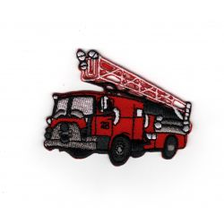 Patch Ecusson Thermocollant Camion de pompier 5,50 x 7 cm