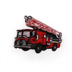 Patch Ecusson Thermocollant Camion de pompier 5,50 x 7 cm