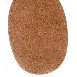 2 Renforts coude Genou à Coudre Coloris Beige Foncé Imitation Daim 9,20 x 13,50 thermocollant provisoire