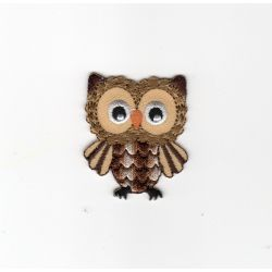 Ecusson Thermocollant CHOUETTE HIBOU Coloris MARRON