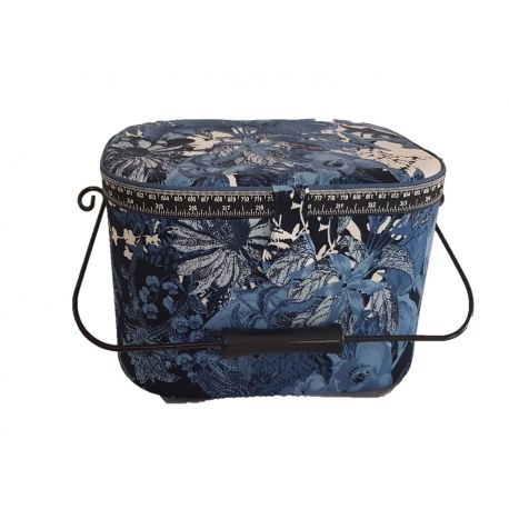 Grande boite à couture ovale 21 x 32 cm Coloris au choix