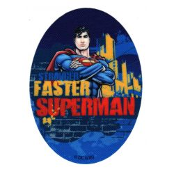 Patch Ecusson Thermocollant Faster Superman 8 x 11 cm B