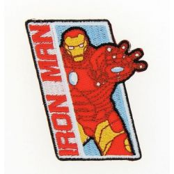 Patch Ecusson Thermocollant Iron Man Avengers 5 x 7,50 cm