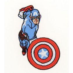 Patch Ecusson Thermocollant Captain America Avengers 4 x 7,50 cm
