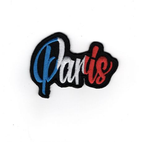 Patch Ecusson Thermocollant Paris bleu blanc rouge 4,50 x 6 cm