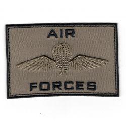 Patch Ecusson Thermocollant Air Forces para militaire coloris beige 5 x 8 cm