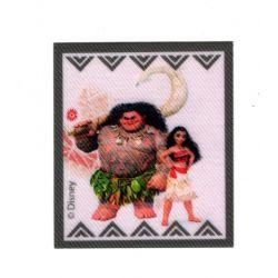 Patch Ecusson Thermocollant Vaiana et Maui 6 x 6,50 cm