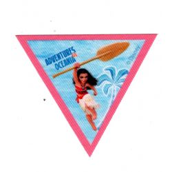 Patch Ecusson Thermocollant Vaiana 6,50 x 7,50 cm triangle