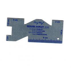Réglette à ourlet en aluminium 10 cm de long