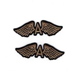 Patch Ecusson Thermocollant 2 x Petites ailes 1,50 x 5 cm