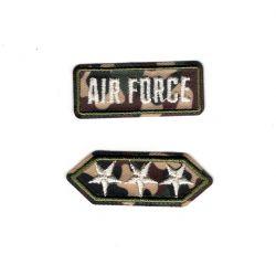 Patch Ecusson Thermocollant 2 x galon militaire air force étoiles 1,50 x 4 cm