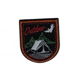 Patch Ecusson Thermocollant Outdoor camping à la montagne Coloris au choix 4,50 x 5,50 cm