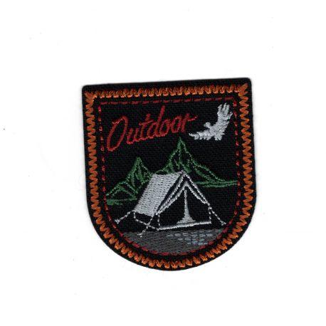 Patch Ecusson Thermocollant Outdoor camping à la montagne Coloris au choix 4,50 x 5,50 cm